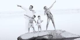 Beach Family Portraits by Permanent Glimpse Photography